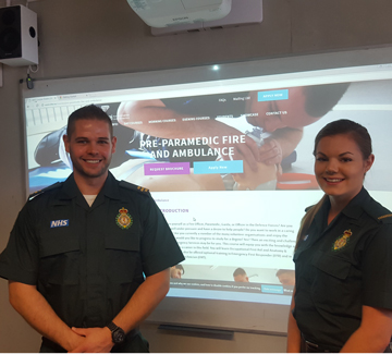 BFEI welcomes back Fire and Ambulance graduate, Peter Collins