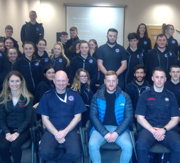 Pre-Paramedic Fire and Ambulance Students Visit the Emergency Services Training Institute